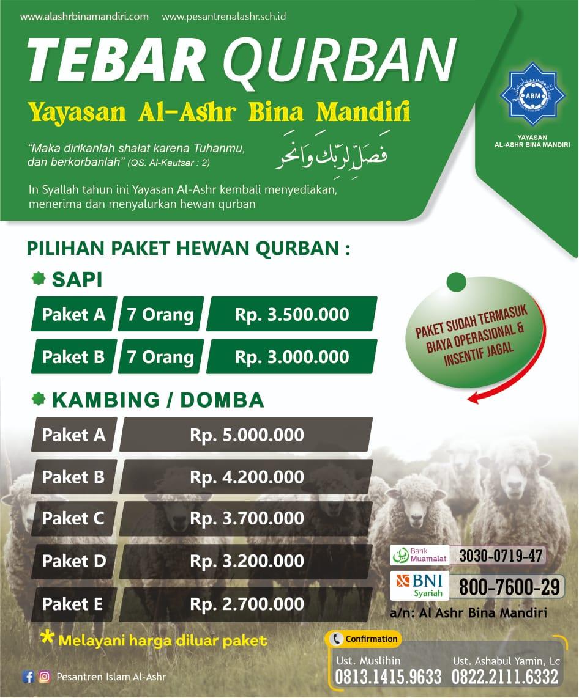 QURBAN Bersama Yayasan Al Ashr Bina Mandiri 1442H/2021